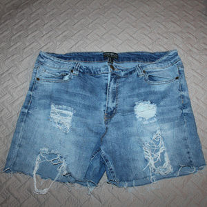 PLUS SIZE Forever 21 Cutoff Distress Jean Shorts